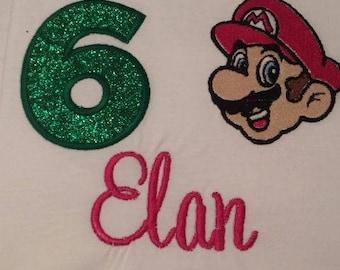 Personalized Birthday Mario Shirt
