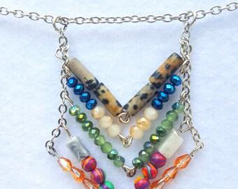 Chevon Pendant Necklace
