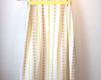70's Vintage Embroidered Striped Maxi