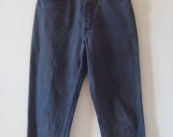 Vintage LEVIS High Waisted Mom Jeans, Faded Black Wash, W30 L30