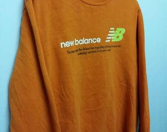 Vintage New Balance Sweatshirt Size M Big Spell Out