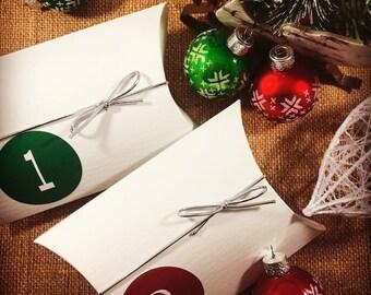 Hand Dyed Yarn - Advent Calendar  - Bamboo / Cotton - Mini Skeins - 53 yds - Christmas Gift for Crocheter - Knitter Gift - DK Light Worsted