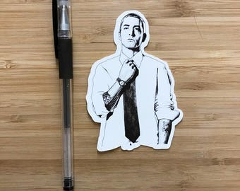 Eminem Decal, Slim Shady, Eminem Vinyl Sticker, Marshall Mathers, Rap Music, Eminem Birthday Party, Dr Dre, 50 Cent, Detroit, Eminem Gift,
