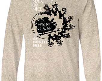 Game of Thrones Inspired House Clause Stark Naughty Long Sleeve