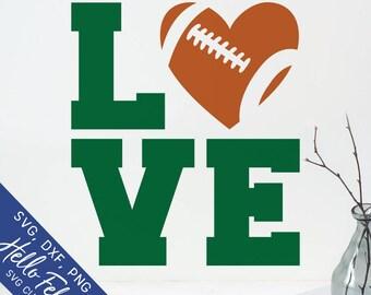 Football Svg, Love Svg, Love Football Svg, Sports Svg, Dxf, Jpg, Svg files for Cricut, Svg files for Silhouette, Vector Art, Clip Art