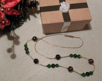 Sparkling winter colors necklace.