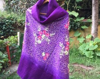 Handmade Felt Shawl Women Cape