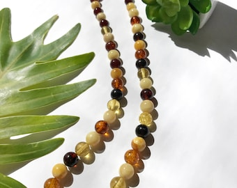 collier ambre. Amber necklace. Statement amber necklace. Natural Baltic amber necklace. Amber bead necklace