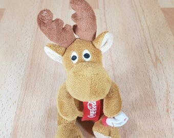 Coca Cola - Deer - Vintage Deer - Coca Cola Collectible - Collectible Deer - Soft Plush Toy - Coca Cola Toy.
