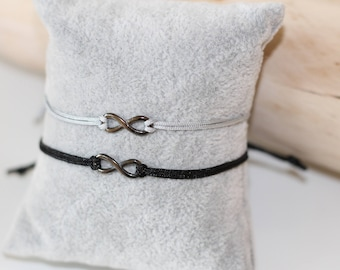 Black bracelet infinity sign bracelet jewellery Infinity Macrame Necklace Makrameearmband