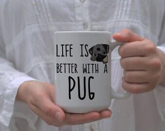 Pug Mug, Pug Coffee Cup, Pug Dad,pug Cup, Pug Mom, Pug Mom Mug, Pug Dad Gift, Pug Coffee Mug, Funny Pug Mug, Pug Lover Gift, Pug Gifts, Pugs