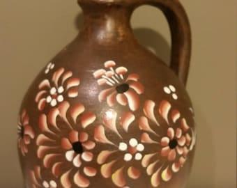 Vintage J. Graf Stoob Vase Austrian Pottery Hand Painted