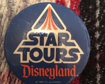 Star Tours glow in the dark Disneyland button