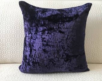 Dark Purple Pillow Etsy