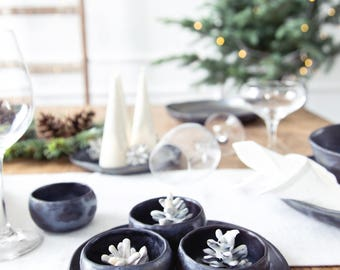 Small ceramic bowl Christmas tablescape Small pottery bowl Holiday tablescape Christmas bowl Christmas serving dish Thanksgiving table bowl