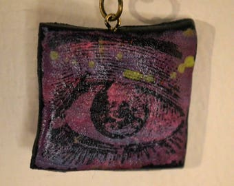 Purple eyeball necklace