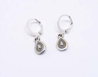 Silver earrings with charms