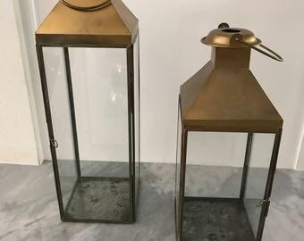 Metallic Gold Lantern