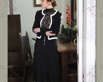 Maxi skirt Black rose