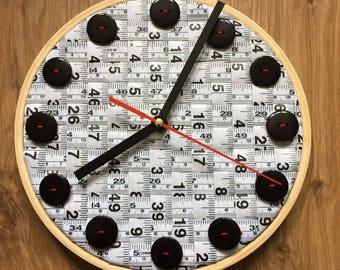 Woven Tape Measure Clock
