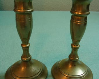 Vintage Brass Candlesticks, Pair of Collectible Brass Candlesticks, Vintage Pair Brass Candlesticks