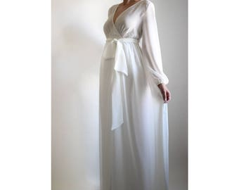 PEARL GOWN - Robe- Maternity Gown, Baby Shower Dress, Chiffon Maternity Gown, Engagement Dress, Maxi Dress, Maternity Photoshoot Prop