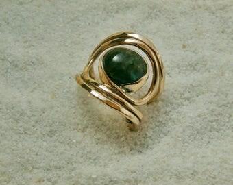 Labradorite Bronze ring