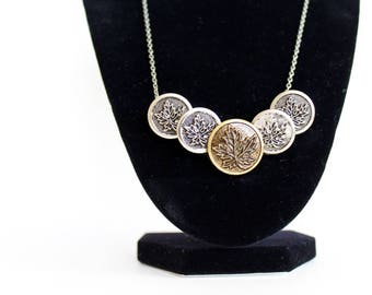 button necklace, vintage button necklace, upcycled jewelry, handmade necklace