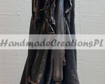 black figure, dark statue, writer's muse, powertex sculpture
