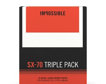 3-Pack Film for SX-70 series Polaroid Cameras (by Impossible Project)