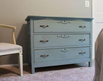 Light Blue Vintage Inspired Dresser