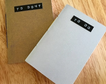 To do & to don't // Pair of A7 notebooks