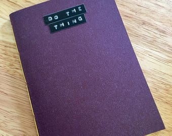 Do The Thing // A6 purple notebook with rainbow pages