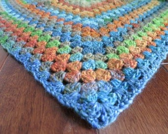 Multicolour triangular shawl