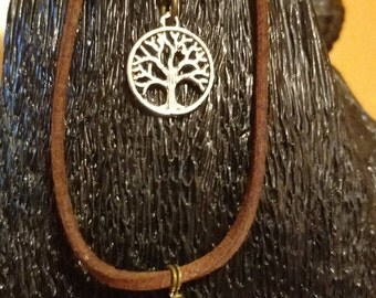 Boho Leather Tree of Life Anklet