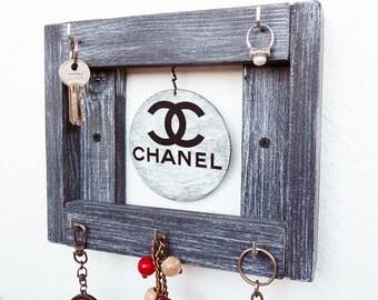 Key Holder For Wall, Key Holder Chanel, Key Holder wood, Key Organizer, Key Storage, Key Hooks, Key Hook For Wall