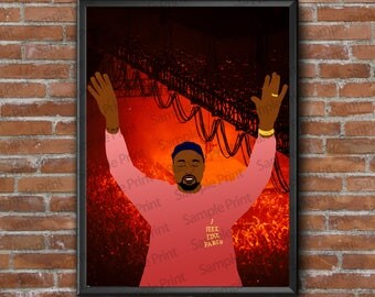 Kanye west Yeezy Poster Print