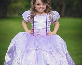 Sofia Dress / Disney Princess Dress Inspired Sofia the First Costume - Kids, Girls, Toddler, Child