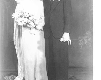 Antique Wedding photo from World War 2