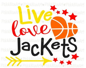 Baketball Jackets SVG Clipart Cut Files Silhouette Cameo Svg for Cricut and Vinyl File cutting Digital cuts file DXF Png Pdf Eps