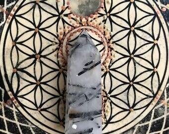 Beautiful Rutliated Quartz Crystal Tower, Reiki Wand, Chakra, Gift