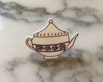 Teapot Shrinky Dink Pin