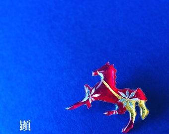 Horse Brooch【Modern Japanese pattern Art 】