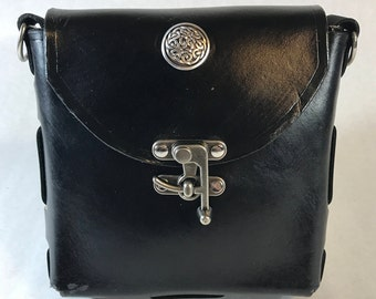 Hand-made quality leather possibles bag