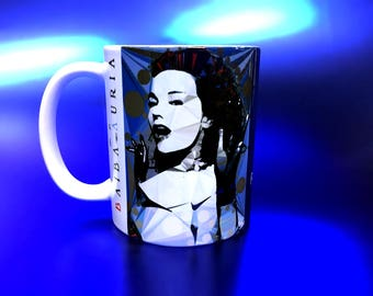 Bjork Mug by Baiba Auria - (coffee mug cup pop music iceland polar bear musician nostalgia volta evolution utopia vespertine vulnicura  )