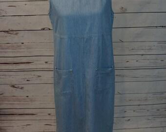 Vintage Stripped Jean Dress