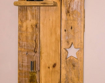 Bespoke rustic hand made Pallet wood candle shelf