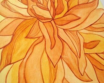 Blooming Flower Watercolor