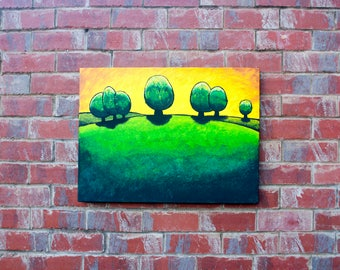 Green Meadow - Acrylic painting on canvas