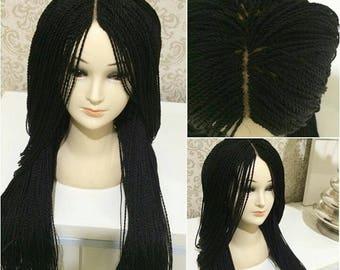 Twist braids wig